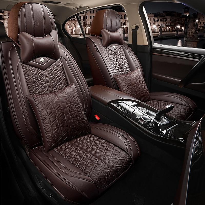 Fundas de asientos de coche de cuero ecológico de cobertura completa, fundas de asiento de cuero PU para mazda cx3 cx-3 cx5 cx-5 cx7 cx-7 mazda 2 3 bk bl