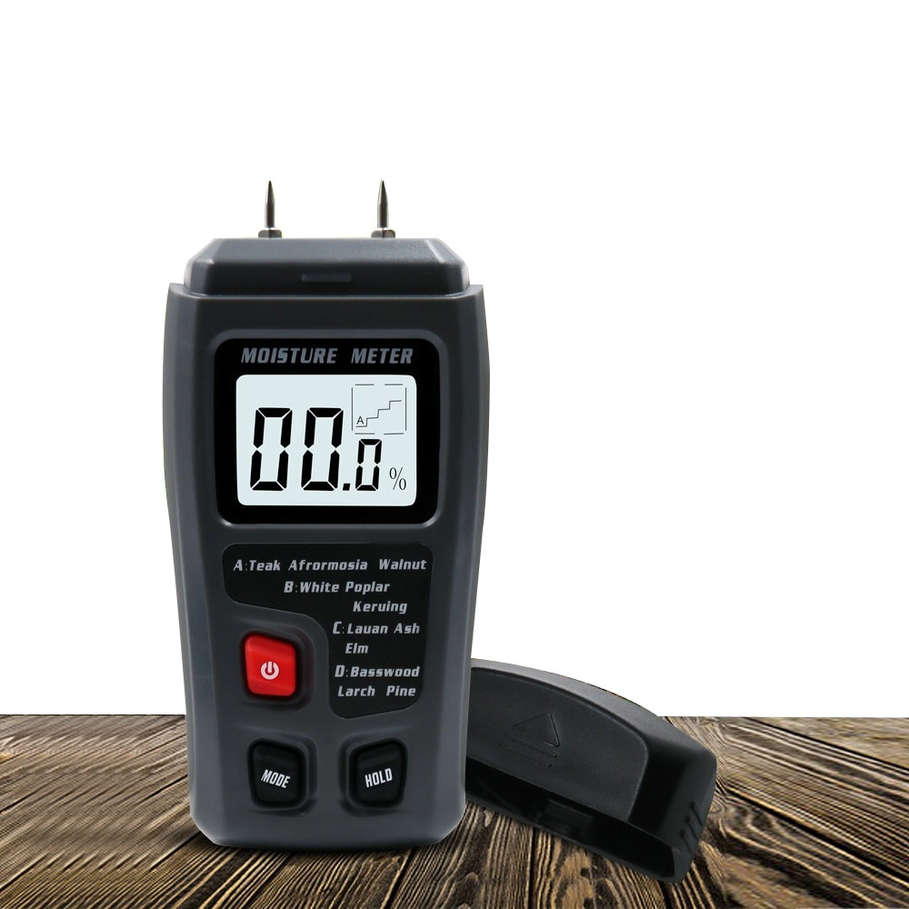 Two Pins Digital Wood Moisture Meter Humidity Tester 0-99.9% Wood Humidity Tester Hygrometer Timber Damp Detector LCD Display digital wood moisture meter 7 categories of material moisture detection with lcd display backlight wood working tester
