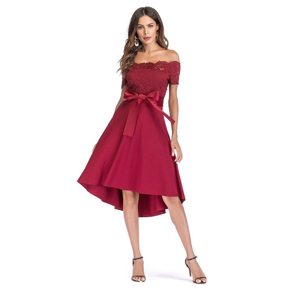 2020 señoras europeas y americanas nueva Alta cintura gran swing falda 1041