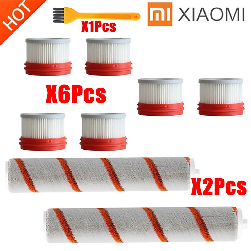 HEPA-Filter Für Xiaomi Dreame V8 V9 V9B V9P XR V10 V11 Wireless Handheld Staubsauger Hepa Filter Roller Pinsel teile Kit