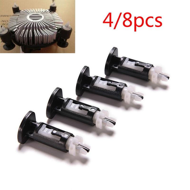 4pcs/8pcs Plastic Mounting Clip for Intel 4 Way CPU Coolers 1155 775 Heatsink Mount Pin Push Screw Cooler Fan
