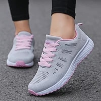 2021 women flats casual sports shoes sneaker walking comfort lace up mesh breathable female sneakers zapatillas mujer feminino