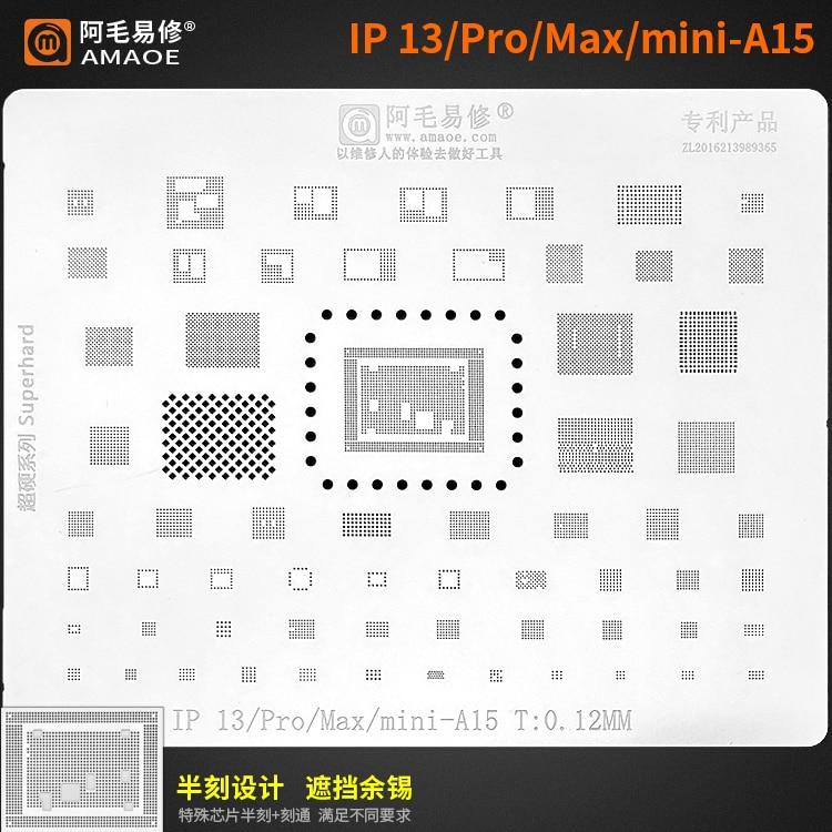 Amaoe Высококачественный чип BGA наборы трафаретов для пайки для iphone 13 12 11 xs max/XR/X/8/7/6S/6/5S/ A13 A12/A11/A10/a9/A8