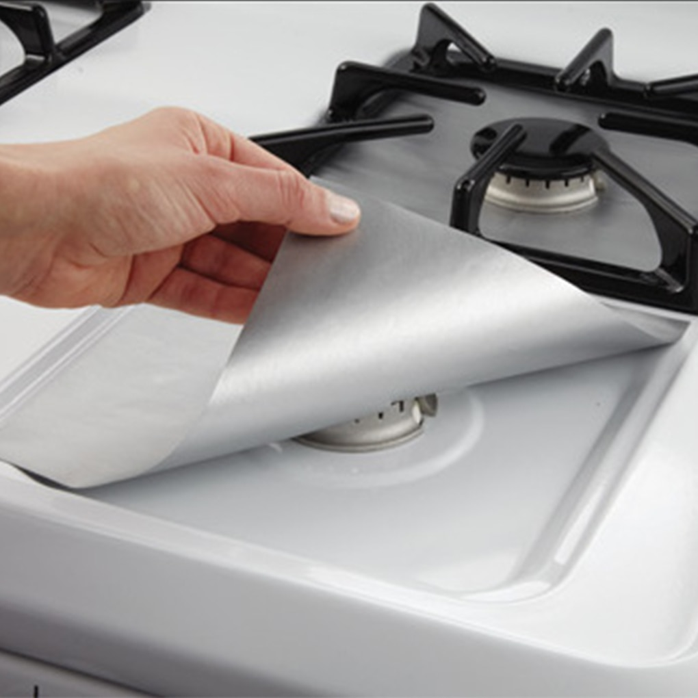 Gas Stove Protector Cooker Cover Liner Clean Mat Pad Non-stick Reusable Kitchen Gas Stove Stovetop Protector Kitchen Accessories