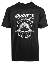 Quin'T القرش الصيد الصداقة جزيرة Est 1975 جديد Men 'S قميص أنيق الحيوان عشاق مريحة المحملة قميص