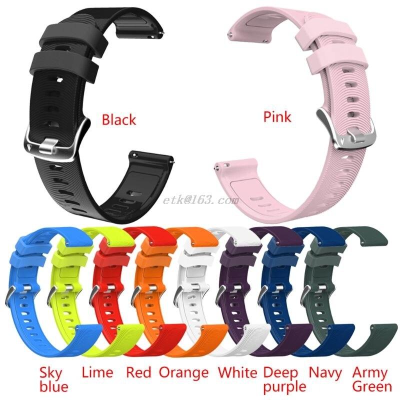 Pulsera Universal deportiva de silicona de 20mm, correa para reloj GArmin Forerunner 245 245M 645 Vivoactive 3, reloj SAmsung GAlaxy