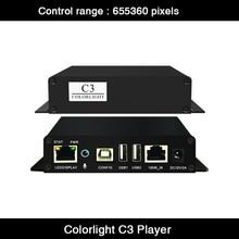 Original Colorlight C3 reproductor Multimedia pantalla LED controlador de pantalla apoyo Colorlight tarjeta de recepción de LED