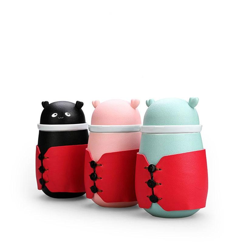 Creative Ceramic Travel Tea Set Personalized Tea And Water Separation Tea Cup Women's Office Tea Cup Girl's Cartoon Mug Gift