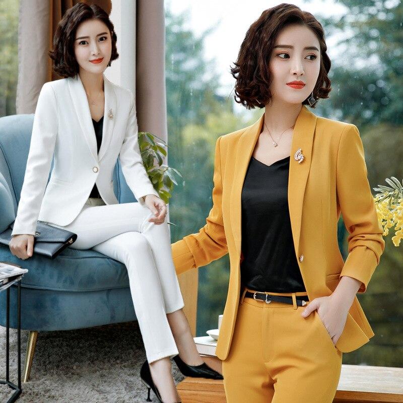 Traje de vestir de mujer caliente para el trabajo de manga larga Blazer vestido sin mangas 2 piezas conjunto para negocios falda femenina trajes y conjuntos