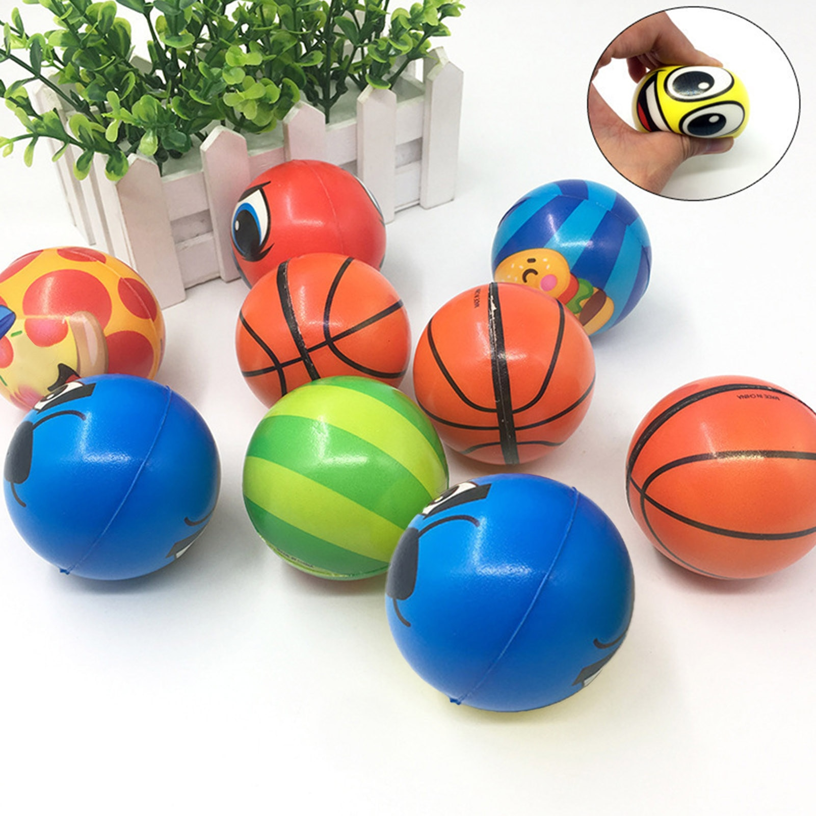 40PCS Fidget Toy Stress Relieve Balls Sensory Toy For ADHD Group Squishy Set Decompression Toys ADD enlarge