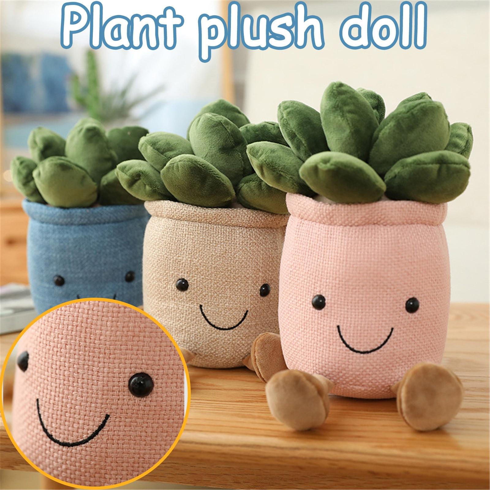 Имитация в горшке плюшевая игрушка кукла растение внутреннее украшение Мягкая
