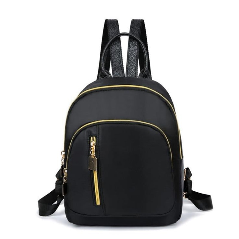 Новый женский модный школьный ранец для девочек, Многофункциональный маленький рюкзак, милый рюкзак, женский рюкзак на плечо, черный