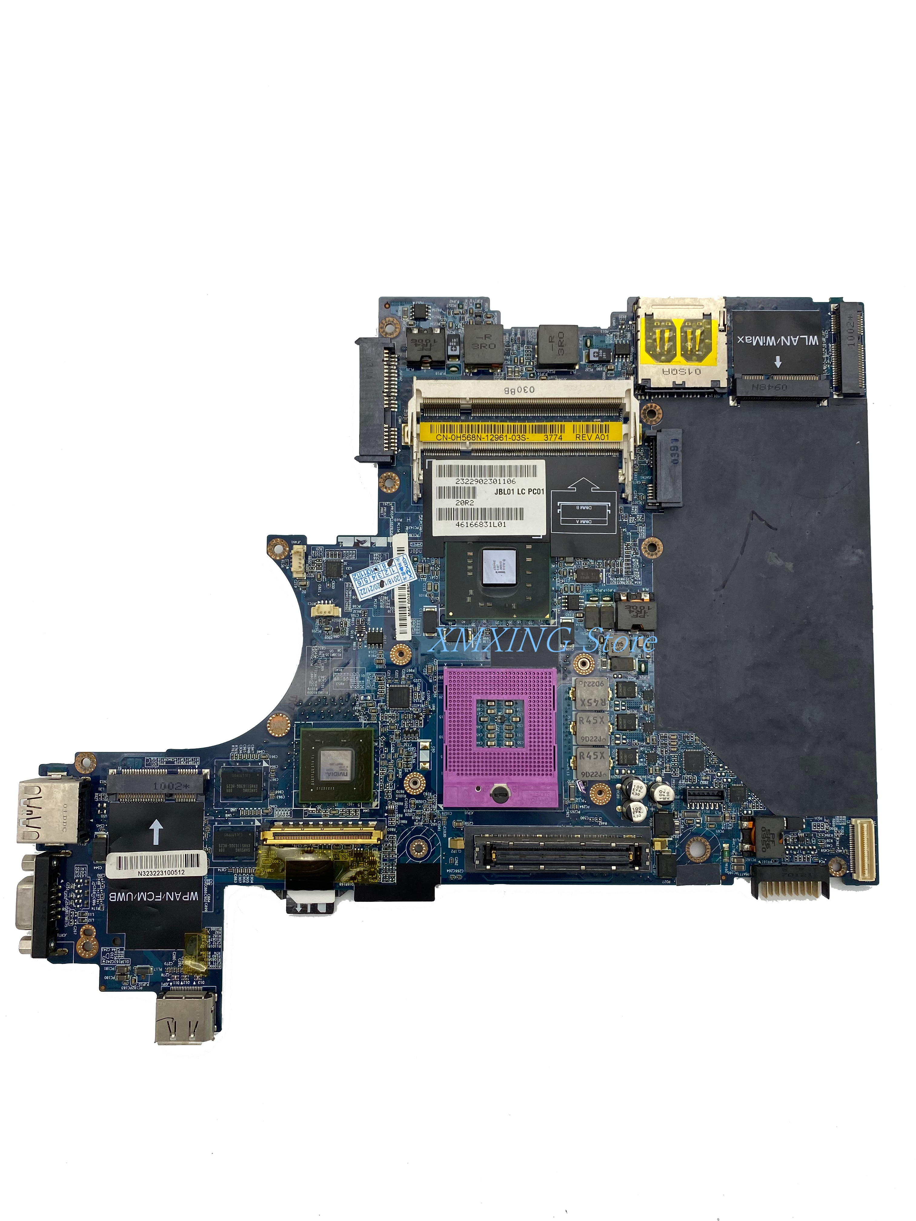 FULCOL لديل خط العرض E6400 اللوحة المحمول LA-3806P CN-0H568N 0H568N H568N اختبار 100% العمل