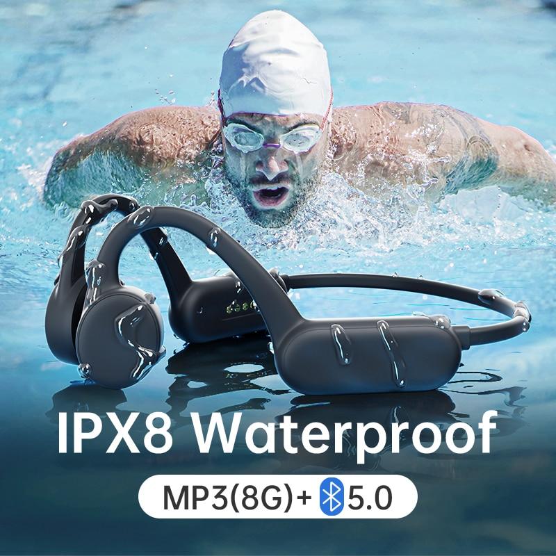 For Xiaomi Sony Wireless Earphone Bone Conduction Bluetooth Swimming IPX8 Waterproof Headphone With