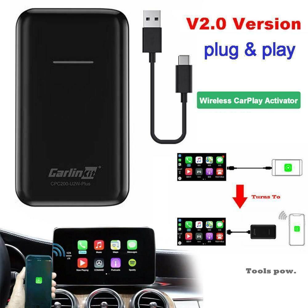 Get Carlinkit Apple CarPlay IOS 13 2.0 USB Update Wireless Auto Connect for Car OEM Original Wired CarPlay To Wireless Carplay Black