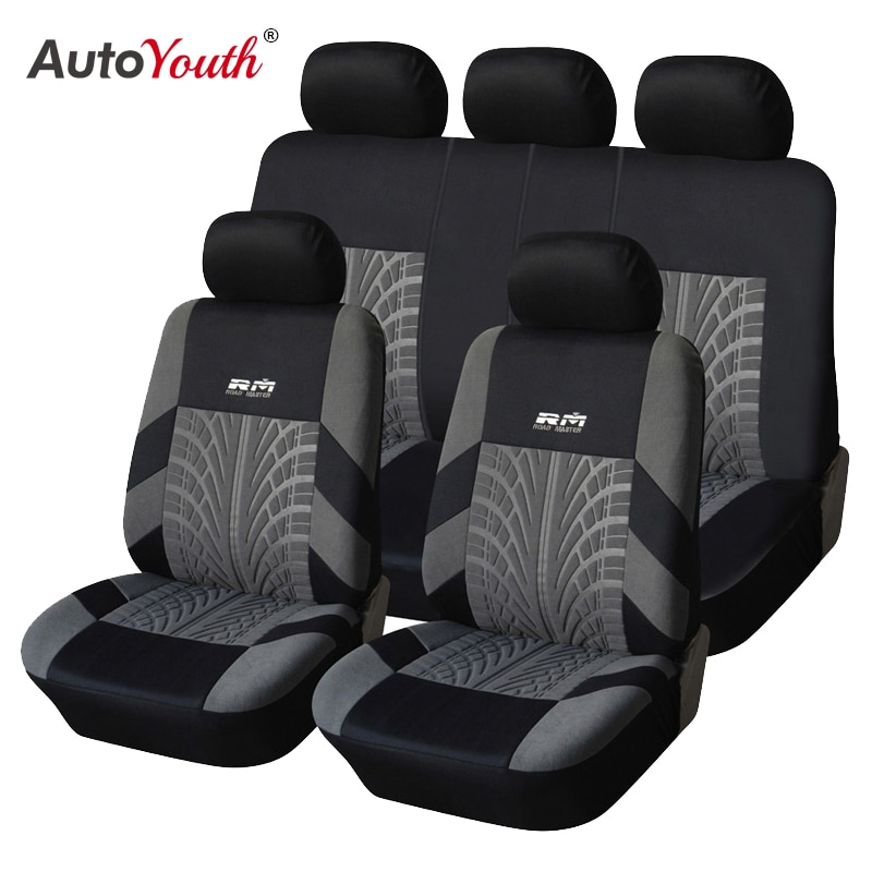 AUTOYOUTH Hot Sale 9PCS and 4PCS Universal Car Seat Cover Fit Most Cars with Tire Track Detail Car S