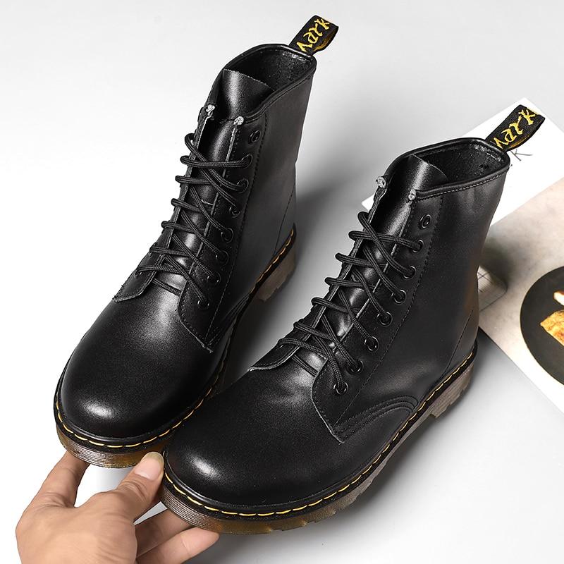 ¡Novedad! Botas tácticas negras altas para hombre, zapatos informales de Pu, botas de trabajo de talla grande para hombre, botas de goma usables informales para hombre