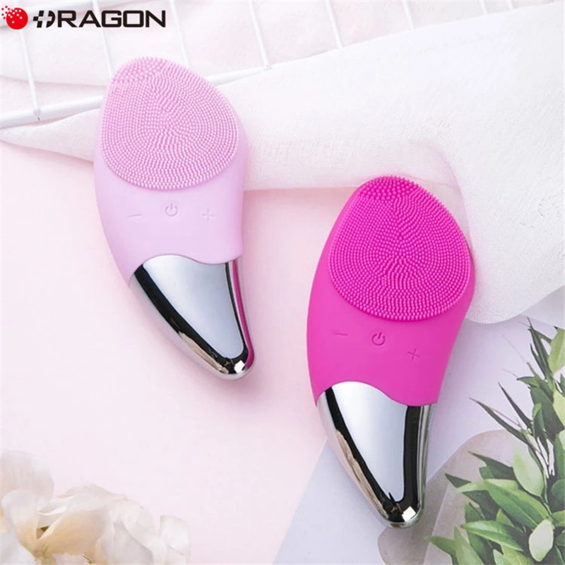 Electric Mini Facial Cleansing Brush Silicone Sonic Cleaner Deep Pore Cleaning Skin Massager Face Cleansing Brush Device Tools недорого