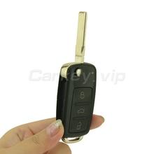 VW Touareg-coque de clé à rabat   300 959 753AA, 3 boutons, 2004 2005 2006 2007 2008 2009 2010 2011