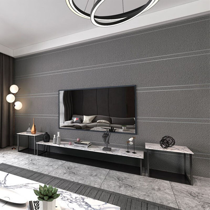 Papel pintado De raya simple moderno 3D Papel De pared no tejido flocado sala De estar TV sofá dormitorio decoración del hogar Papel De pared 3D Tapety