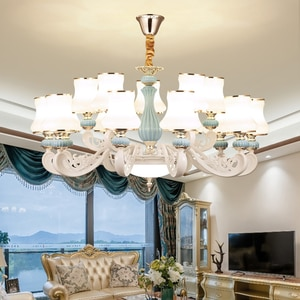 Nordic Bedroom Ceramic Chandelier Lighting Modern Household Living Room Decoration Chandelier New Hall Dining Room Hanging Lamps