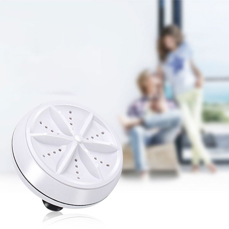 Mini Portable Ultrasonic Turbo Washer Personal Laundry Rotating Washing Machine USB Charging for Travel Home Business enlarge