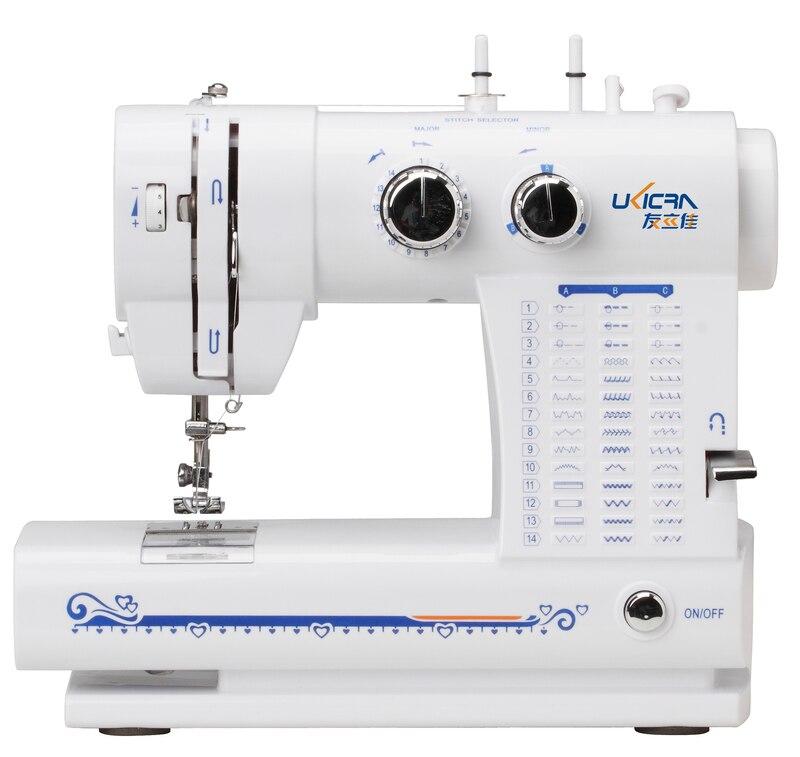 Ukicra جديد بوتونهول متعددة الوظائف المنزلية ماكينة خياطة UFR-813 مع 42 نوع غرزة نمط