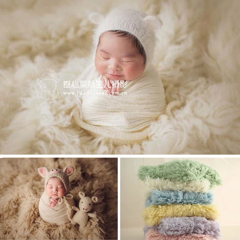 Newborn Photography Background Flokati 150x90cm Curly Greek Wool Blanket Baby Photo Shoot Props Boy Girl Fotografie Accessoires
