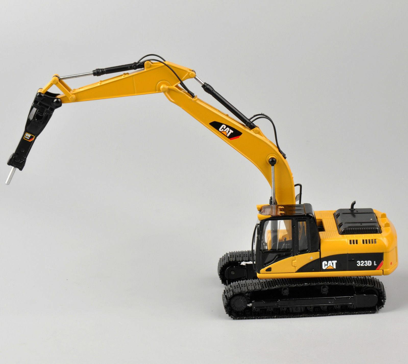 Norscot Caterpillar Cat 323D L excavadoras con H120E martillo hidráulico pistas de Metal modelo de fundición a escala 1/50