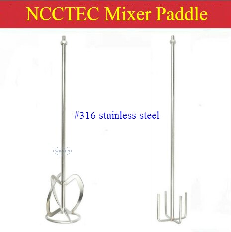 NCCTEC-عمود مجداف لخلط الطلاء ، خلاط من الفولاذ المقاوم للصدأ ، مقاوم للتآكل ، بطول 28 بوصة و 316 مللي متر ، M14 ، #700