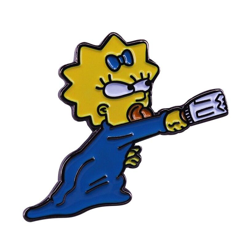 Bonito Maggie pin esmalte meninas miúdos do divertimento dos desenhos animados além de talento