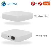 GERMA     Hub passerelle intelligente sans fil Tuya ZigBee 3 0  application Smart Home Bridge  telecommande  fonctionne avec Alexa Google Home