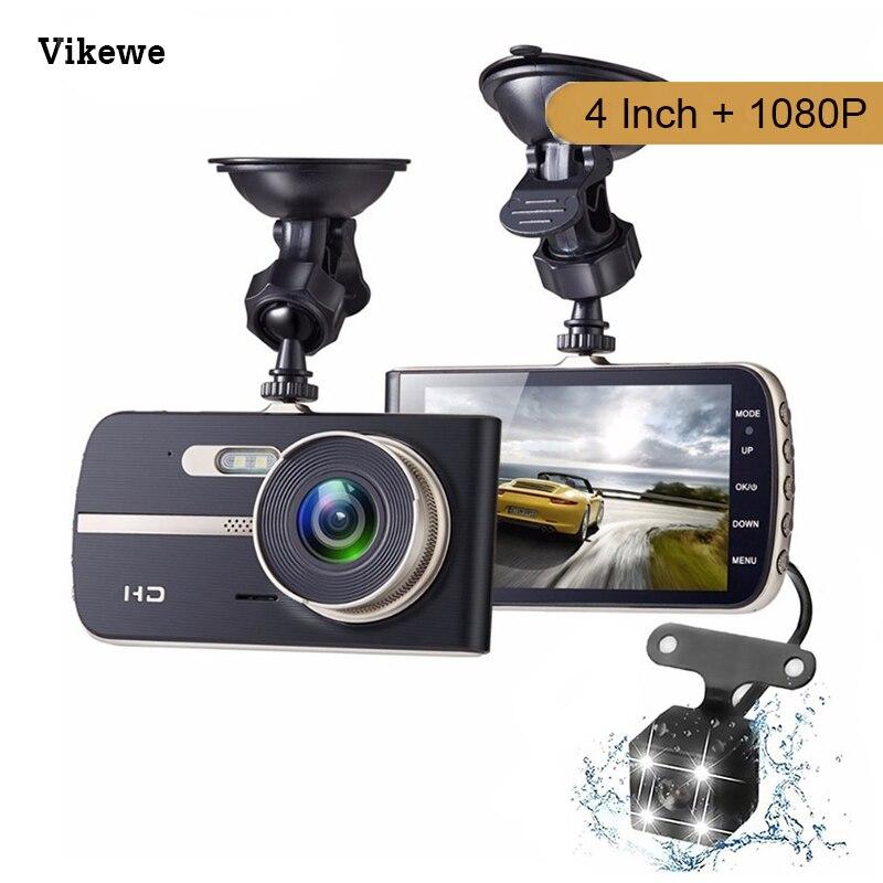 Vikewe, cámara de seguridad Dvr para coche con doble lente, Dvrs Full HD 1080P, visión nocturna, Mini cámara de salpicadero para coche, cámara con sensor automático, Dashcam