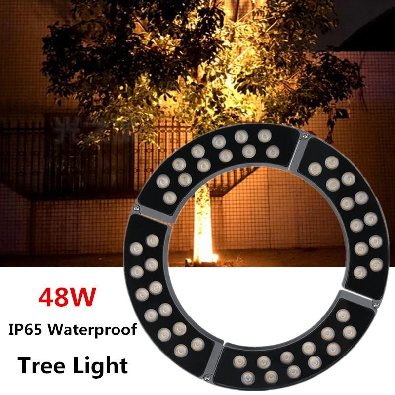 Pillar Lights Tree Light Garden Lamp Outdoor Spotlight Xmas Lights Outdoor IP65 Waterproof Led Underground Light Outdoor 48W RGB