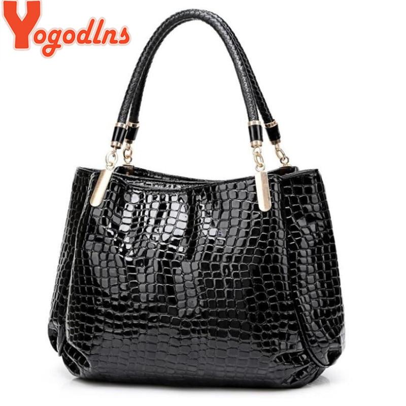 Yogodlns, bolso de lujo para mujer, alta calidad, patrón de cocodrilo clásico, marca de bolsos de diseñador, bandolera de hombro de gran capacidad