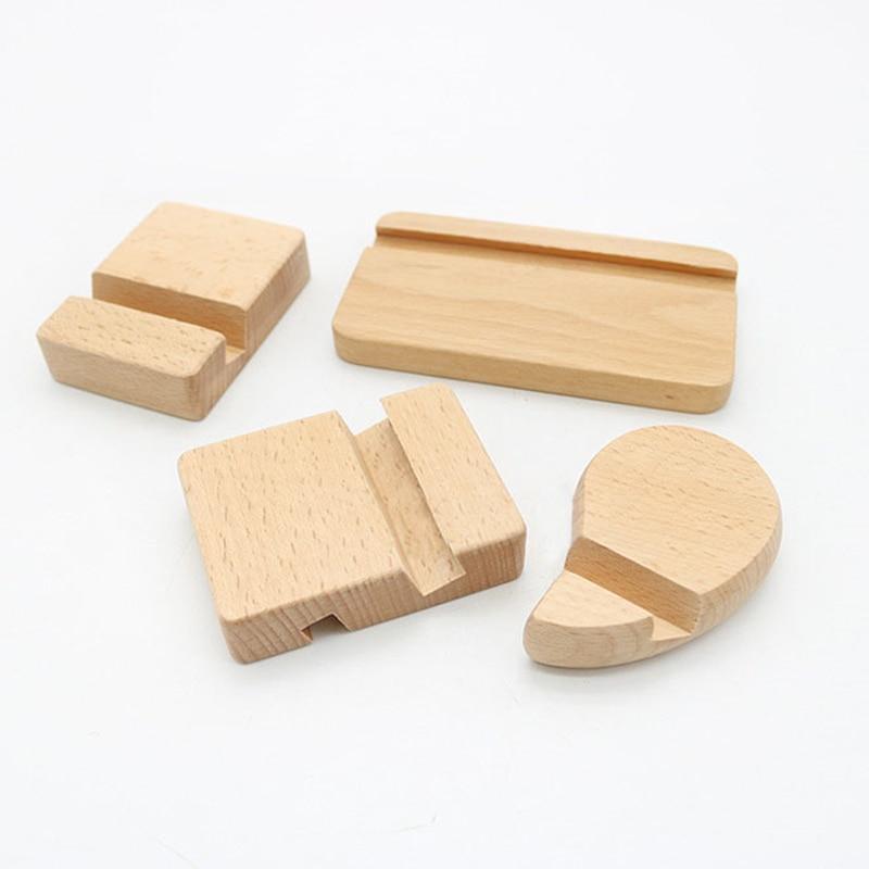 Soporte de teléfono móvil de madera soporte de teléfono Universal para iPhone para Samsung Pad Tablet soporte de escritorio teléfono Rack 8*6*6*2 cm