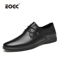 high quality autumn mens casual shoes full grain leather comfort flats shoes handmade soft walking shoes men
