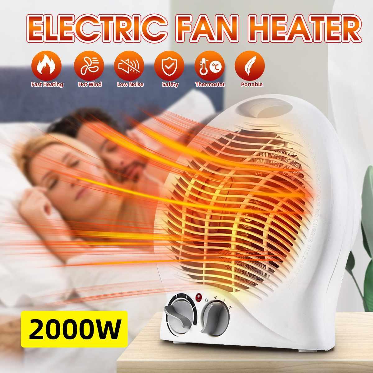 3 إعداد التدفئة المحمولة الكهربائية مساحة مراوح تسخين المنزل سطح المكتب الكهربائية دفئا المبرد معطف شتوي آلة 220 فولت 2000 واط