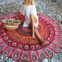 round mat scarve mandala tapestry beach picnic throw rug blanket bohemia grassplot mats new design