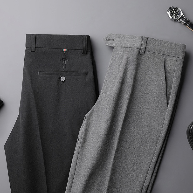 Весна-лето 2021, прямые тонкие укороченные брюки, Молодежные свободные деловые брюки, не требующие глажки, повседневные брюки с вышивкой