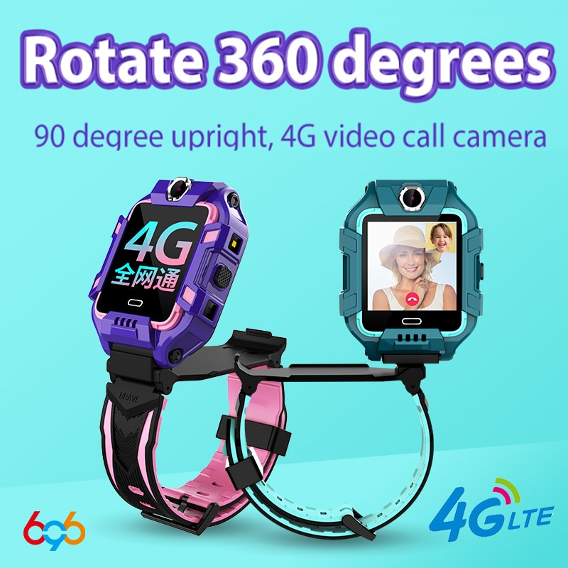 696 Y99A Kids 4G ساعة ذكية لتحديد المواقع واي فاي + LBS الموقع سيم كاميرا مزدوجة 360 درجة دوران Smartwatch ساعة ذكية ساعات الهاتف الفرقة