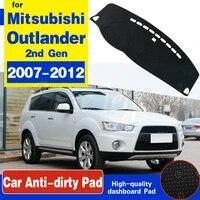 anti slip mat dashboard cover carpet sunshade dashmat accessories for mitsubishi outlander 2007 2008 2009 2010 2011 2012 2nd gen