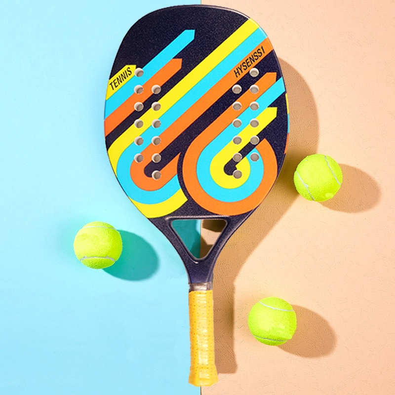 Good Quality and Low Price Outdoor Sports Carbon EVA Beach Racket Full Screen Plate Set Beach Tennis Racket Sports Equipment