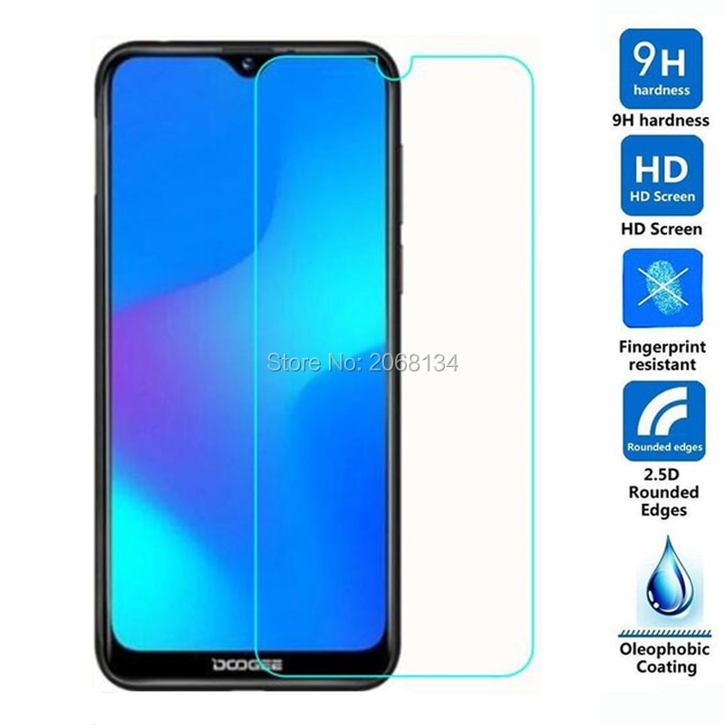 2.5D Tempered Glass For Doogee N20 Protective Film 9H Screen Protector For Doogee Y9 Plus Guard Prot