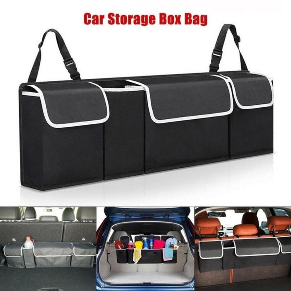 Organizador de coche Universal, bolsa de almacenamiento de asiento trasero ajustable, red de alta capacidad, organizadores de respaldo de asiento de automóvil Oxford multiuso