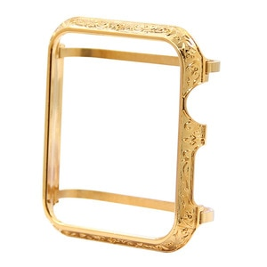 Watch Screen Protector Custom Metal Plated Gold Case Cover For Smart Watch Compatible with 38mm 42mm