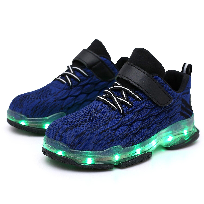 ¡Novedad de 2019! Zapatillas luminosas USB para niños, zapatillas luminosas con luces Led para niños, zapatillas iluminadas para niñas, zapatos Krasovki para niños