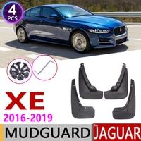 4 PCA Front Rear Car Mudflaps for Jaguar XE 2016 2017 2018 2019 Fender Mud Flaps Guard Splash Flap Mudguards Accessories