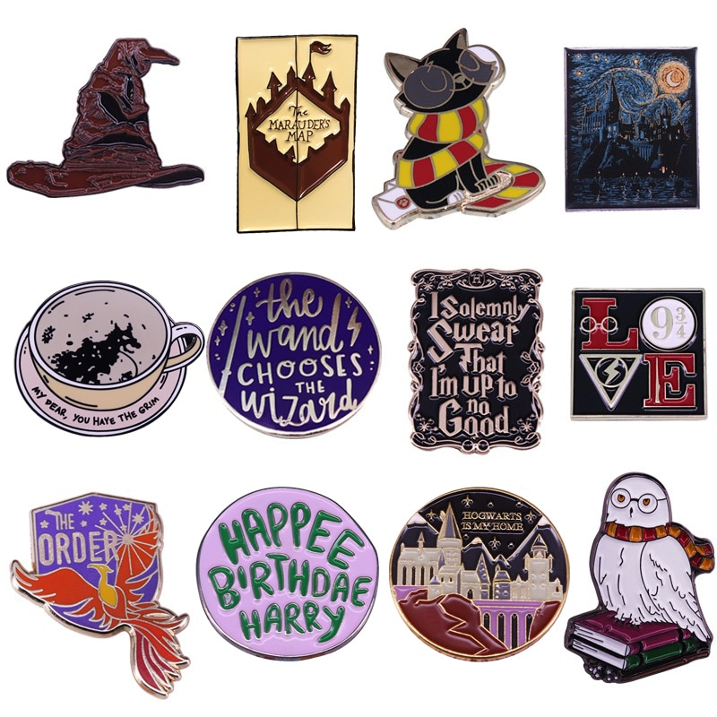 P5582 Dongmanli Creativity Hard Enamel Lapel Pin Collection Badge Backpack Collar Movie Jewelry Kids