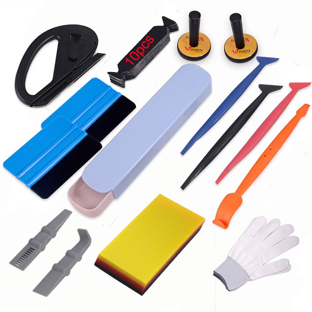 EHDIS виниловая пленка, набор инструментов для автомобиля, автомобильные аксессуары, углеродное волокно, наклейка, пленка, магнитные держатели, авто окно, оттенок, Ракель, нож для резки
